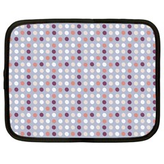 Pink Purple White Eggs On Lilac Netbook Case (large)