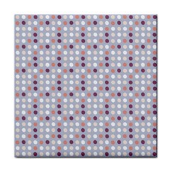 Pink Purple White Eggs On Lilac Face Towel
