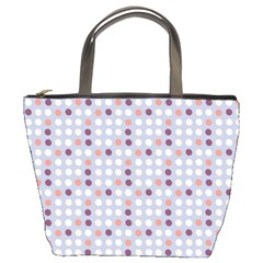 Pink Purple White Eggs On Lilac Bucket Bags
