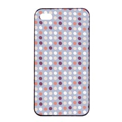 Pink Purple White Eggs On Lilac Apple Iphone 4/4s Seamless Case (black)