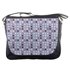 Pink Purple White Eggs On Lilac Messenger Bags