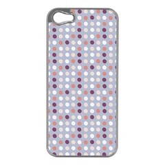 Pink Purple White Eggs On Lilac Apple Iphone 5 Case (silver)