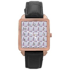 Pink Purple White Eggs On Lilac Rose Gold Leather Watch