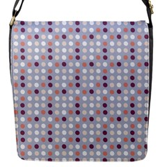 Pink Purple White Eggs On Lilac Flap Messenger Bag (s)