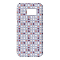 Pink Purple White Eggs On Lilac Samsung Galaxy S7 Edge Hardshell Case