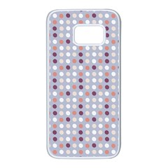 Pink Purple White Eggs On Lilac Samsung Galaxy S7 White Seamless Case