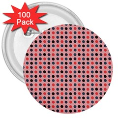 Grey Red Eggs On Pink 3  Buttons (100 Pack)