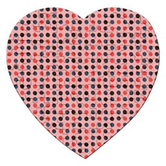 Grey Red Eggs On Pink Jigsaw Puzzle (heart)