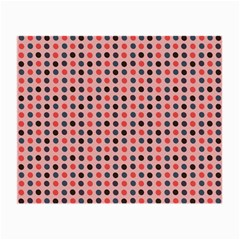 Grey Red Eggs On Pink Small Glasses Cloth
