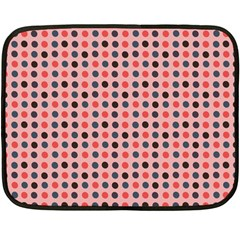 Grey Red Eggs On Pink Fleece Blanket (mini)