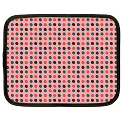 Grey Red Eggs On Pink Netbook Case (xl)