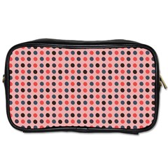 Grey Red Eggs On Pink Toiletries Bags 2 Side