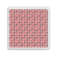 Grey Red Eggs On Pink Memory Card Reader (square)
