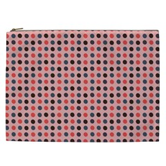 Grey Red Eggs On Pink Cosmetic Bag (xxl)