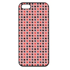 Grey Red Eggs On Pink Apple Iphone 5 Seamless Case (black)