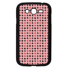 Grey Red Eggs On Pink Samsung Galaxy Grand Duos I9082 Case (black)