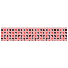 Grey Red Eggs On Pink Small Flano Scarf