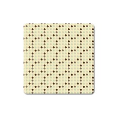 Brown Green Grey Eggs Square Magnet
