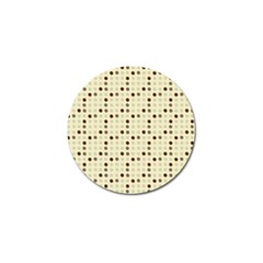 Brown Green Grey Eggs Golf Ball Marker (4 Pack)