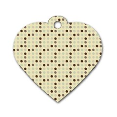 Brown Green Grey Eggs Dog Tag Heart (one Side)