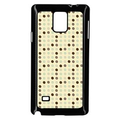 Brown Green Grey Eggs Samsung Galaxy Note 4 Case (black)