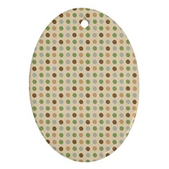 Green Brown Eggs Ornament (oval)