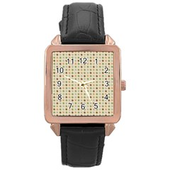 Green Brown Eggs Rose Gold Leather Watch