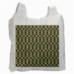 Grey Beige Burgundy Eggs On Green Recycle Bag (two Side)