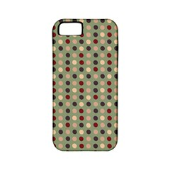 Grey Beige Burgundy Eggs On Green Apple Iphone 5 Classic Hardshell Case (pc+silicone)
