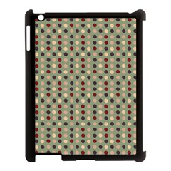Grey Beige Burgundy Eggs On Green Apple Ipad 3/4 Case (black)