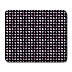 Pink Green Eggs On Black Large Mousepads