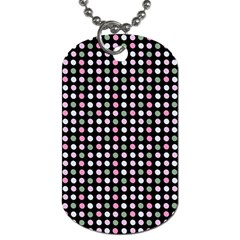 Pink Green Eggs On Black Dog Tag (one Side)