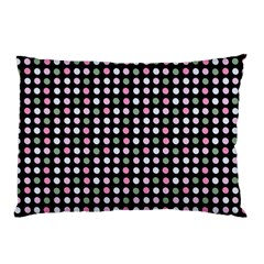 Pink Green Eggs On Black Pillow Case