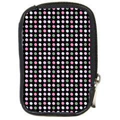 Pink Green Eggs On Black Compact Camera Cases