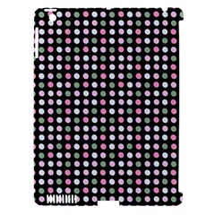 Pink Green Eggs On Black Apple Ipad 3/4 Hardshell Case (compatible With Smart Cover)