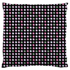 Pink Green Eggs On Black Large Cushion Case (one Side)