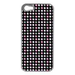 Pink Green Eggs On Black Apple Iphone 5 Case (silver)