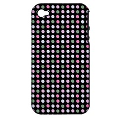 Pink Green Eggs On Black Apple Iphone 4/4s Hardshell Case (pc+silicone)