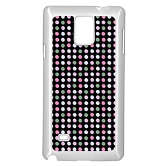 Pink Green Eggs On Black Samsung Galaxy Note 4 Case (white)