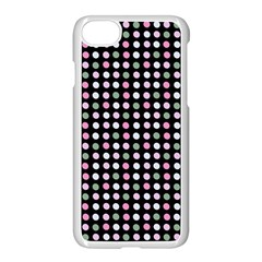 Pink Green Eggs On Black Apple Iphone 8 Seamless Case (white)