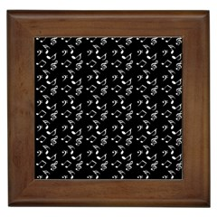 Black Music Notes Framed Tiles