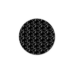 Black Music Notes Golf Ball Marker