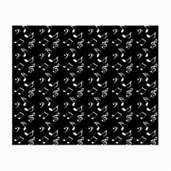 Black Music Notes Small Glasses Cloth (2 Side)