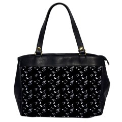 Black Music Notes Office Handbags