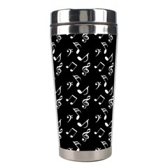 Black Music Notes Stainless Steel Travel Tumblers