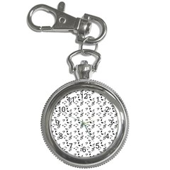 White Music Notes Key Chain Watches