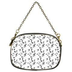 White Music Notes Chain Purses (one Side)