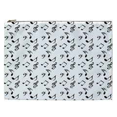 White Music Notes Cosmetic Bag (xxl)
