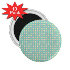 Pink Peach Green Eggs On Seafoam 2 25  Magnets (10 Pack)