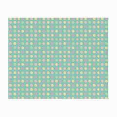 Pink Peach Green Eggs On Seafoam Small Glasses Cloth